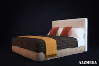 3d high-poly bed pillows