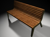 park bench 3ds
