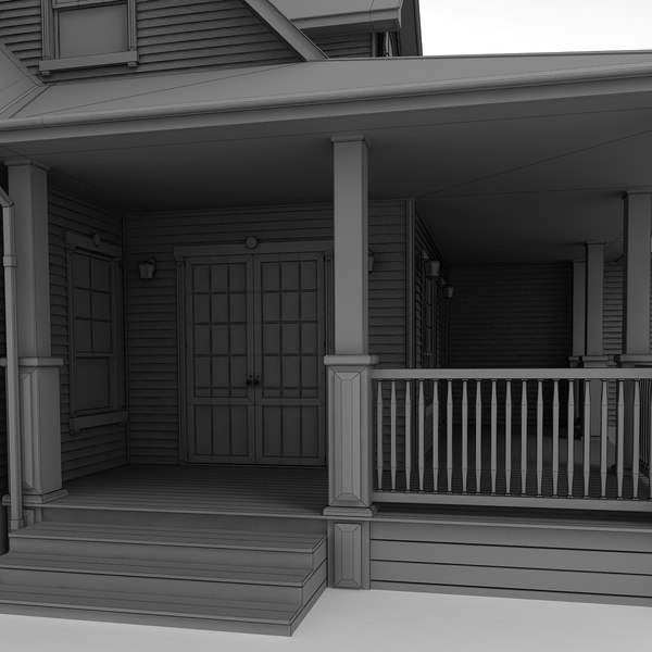 3d model two-story cottage - Cottage 20... by ralpatov