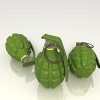 grenade bomb explosives 3d model