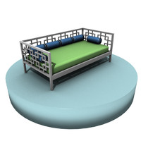Geometric Day Bed