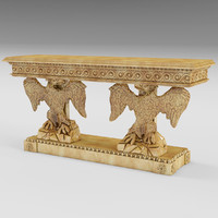 Gilded Federal Eagle consol table