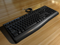 3d keyboard black keys model