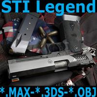 3dsmax sti legend ipsc pistol weapons