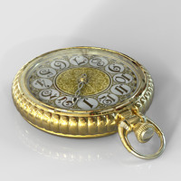 3d model pocket watch