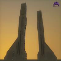 Futuristic Sci-Fi Skyscraper 4