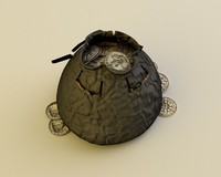 3d purse coins