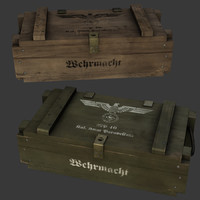 3d german ww2 ammo crate model