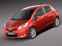 toyota yaris 2012 5-door 3d lwo