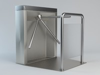 turnstile gate barrier 3d max