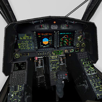 3d cockpit eurocopter tiger model
