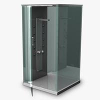 3d modern shower model