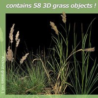grasses exterior architectural 3d model