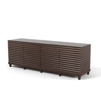Baker Fluted Low Cabinet Commode Sideboard Barbara Barry collection 3400