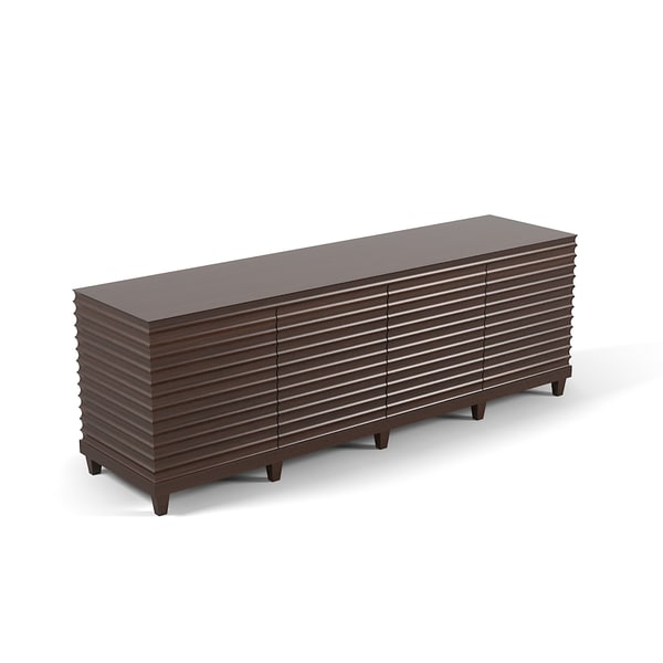 baker fluted cabinet 3d max - Baker Fluted Low Cabinet Commode Sideboard Barbara Barry c... by archstyle
