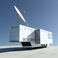 broadcasting trailer truck 3d max
