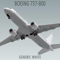 Boeing 737-800 Generic White