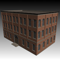 victorian warehouse factory building 3d model