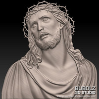 relief christ crown thorns 3d model