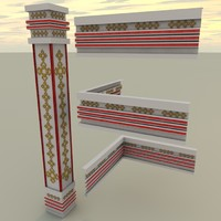 decoration parts 3d c4d