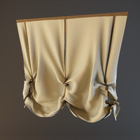 3d model curtain french