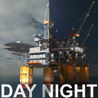 Oil Rig Day-Night scenes