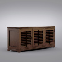 Pottery Barn - Andover Cabinet - Holstead Shutter Large Media Console