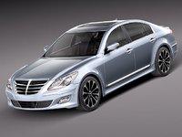 3d hyundai genesis sedan 2012 model