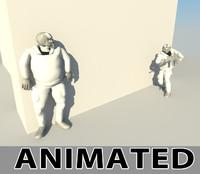 militar animation 3d model
