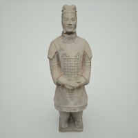 terracotta warrior army 3d obj