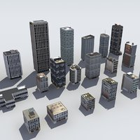 20 city buildings skyscrapers 3d 3ds