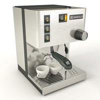 3d model rancilio espresso machine
