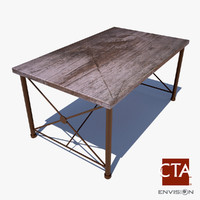 3d modern dining table model