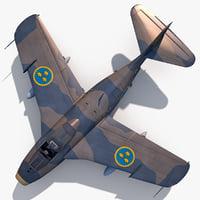 Saab J 29F Tunnan V2 rigged