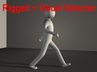 cinema4d basic character rigged
