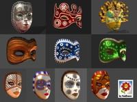 Venetian Carnival Mask Pack 2