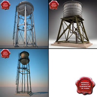 3d water towers