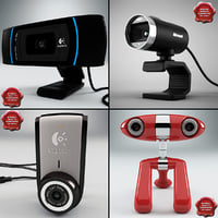 webcams logitech microsoft 3d model
