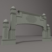 3d road gateway arch