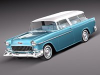 3d model of chevrolet bel air nomad