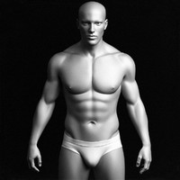 Realistic Male Body - High Polygon Mesh