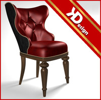 3d model of baroque chair