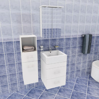 jr bathroom set 3d max