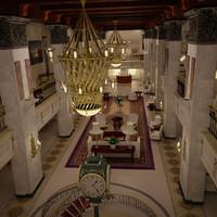 hotel lobby modeled max