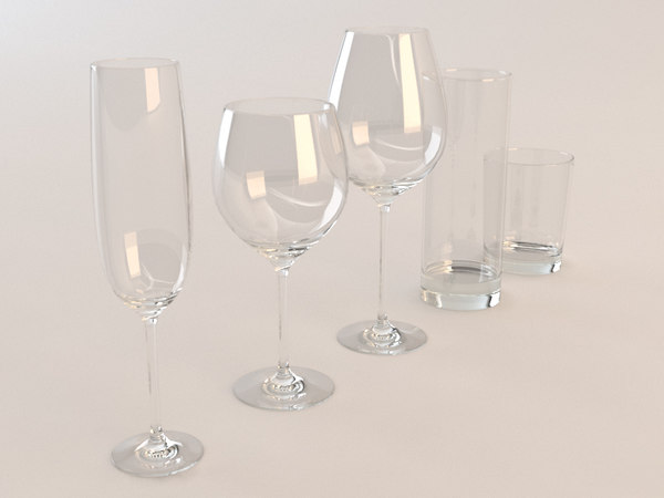 set glass 3d max - Set of glasses... by Macker202