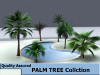 trees swimming pool 3d model