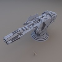 free energy cannon turret 3d model