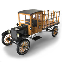automobile t trucking tt 3d obj