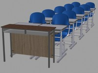 tables chairs 3d max