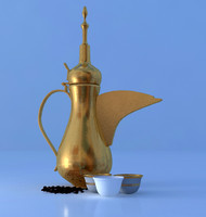 arabian coffee pot 3d max